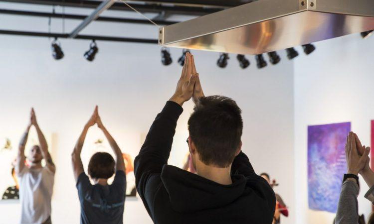 Yoga in the Art 2017. Photo by Keanna Hiebert.