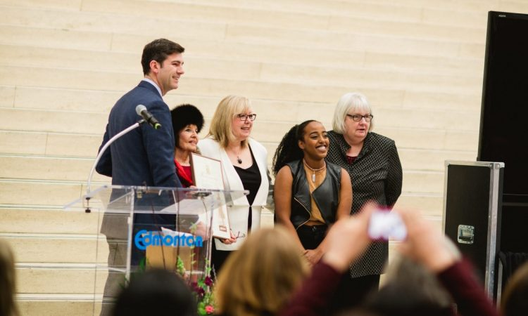 International Women's Day Celebrations at City Hall. Photo by Brittany Paige Balser.