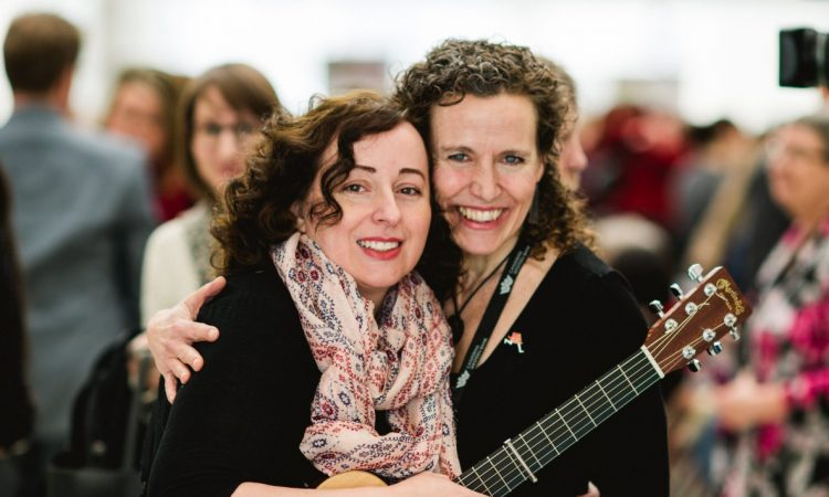 Andrea House & Annette Loiselle, International Women's Day Celebrations at City Hall. Photo by Brittany Paige Balser.