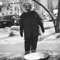 Volunteer, Robin Vargyas, Outdoor Fire Pit 2017. Photo by Girl Named Shirl.