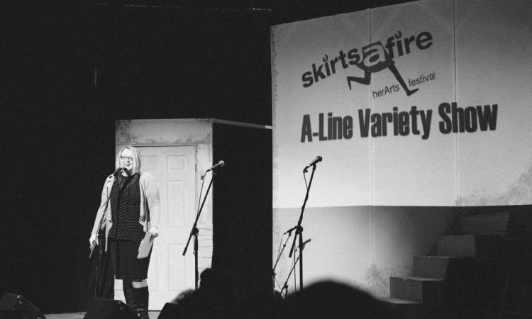 Jana O'Connor, A-Line Variety Show 2017. Photo by Girl Named Shirl.