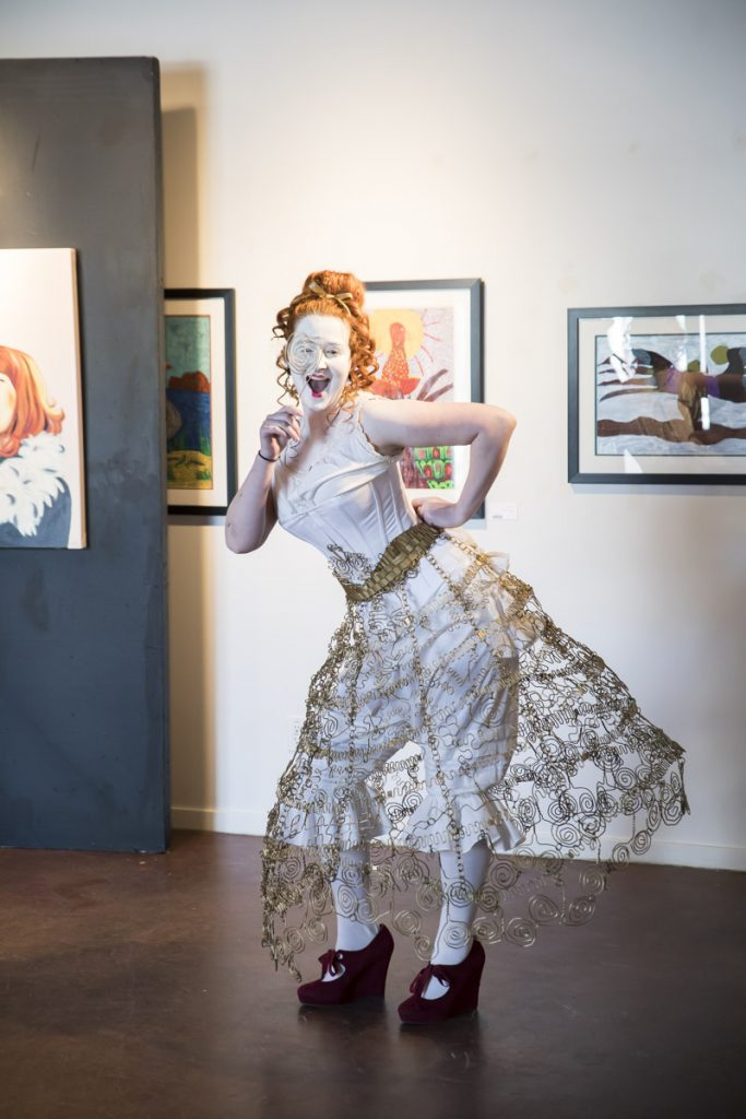 """2017 Skirt Design Competition Winner, """"The Shape of Me,"""" designed by Jane Kline. Photography by Keanna Hiebert."""
