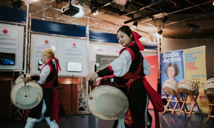 KoRock, Kyungah Song and Emily Pak, CBC Centre Stage 2018. Photo by April MacDonald Killins.