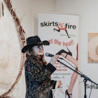 2018 Honorary Skirt Muriel Stanley Venne. Photo by April MacDonald Killins.