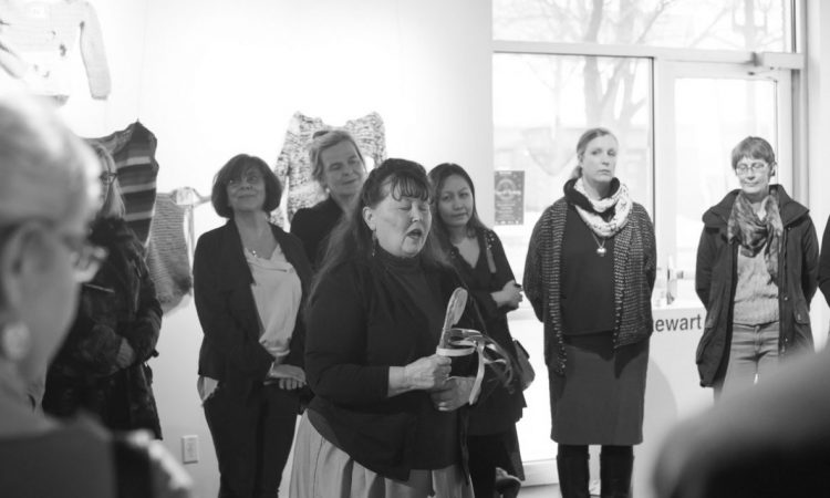 Smudge Ceremony by Carola Cunningham, Opening Ceremonies 2018. Photo by Keanna Hiebert.