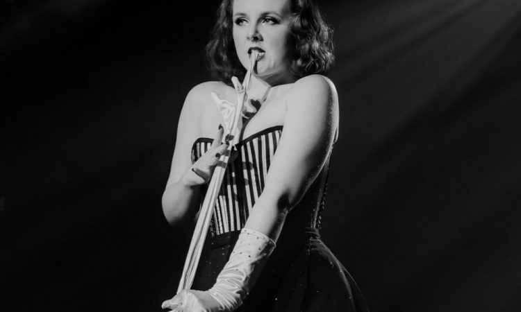 Vivian Vanguard performs in the A-Line Variety Show 2020. Photo by April MacDonald Killins.