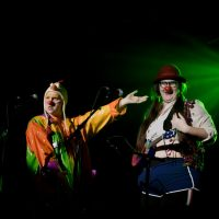Scamp & Shorty perform in the A-Line Variety Show 2020. Photo by April MacDonald Killins.