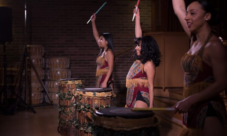 Sangea Academy perform in The Beat of Her Drum 2020. Photo by April MacDonald Killins.