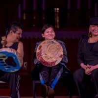 Chubby Cree perform in The Beat of Her Drum 2020. Photo by April MacDonald Killins.