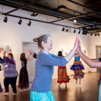Shaktiflow's Garba Performance & Workshop 2020. Photo by April MacDonald Killins.