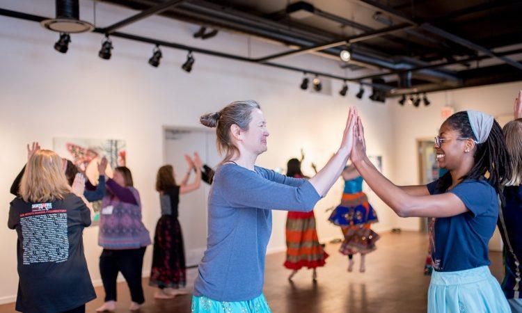 Shaktiflow's Garba Performance & Workshop 2020. Photo by April MacDonald Killins.