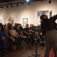 Karimah performing in Words Unzipped 2020. Photo by April MacDonald Killins.