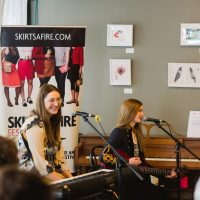 Holly Gilroy and Rebecca Lappa perform in The Key of She at the Carrot 2020. Photo by BB Collective.