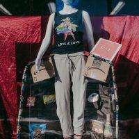 COVIDCOMFORT2021 by Jennifer Lee Arsenault, Skirt Design Competition 2021. Photo by April MacDonald Killins.