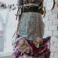 Pandemic Warfare by Lorraine Dezman, Skirt Design Competition 2021. Photo by April MacDonald Killins.