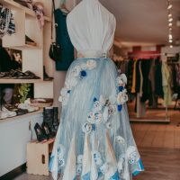 Packaged in Florals by Joanne Ngo, Skirt Design Competition 2021. Photo by April MacDonald Killins.