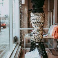 Merrow Dress by Deirdre McCleneghan, Skirt Design Competition 2021. Photo by April MacDonald Killins.